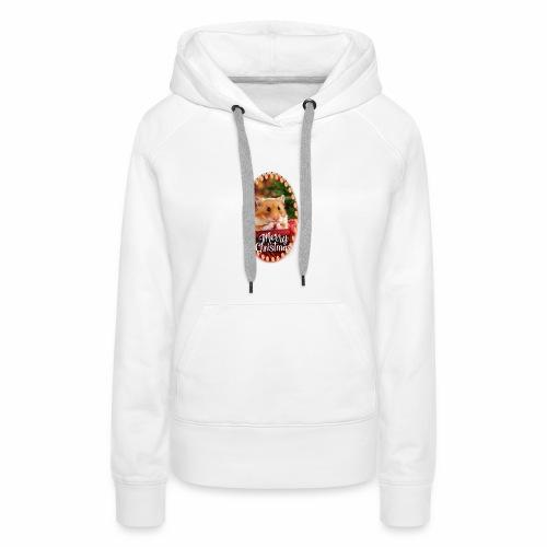 Süßer Hamster Weihnachten Weihnachtsmotiv Nager - Frauen Premium Hoodie