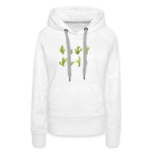 Cactus Design aquarelle - Sweat-shirt à capuche Premium pour femmes