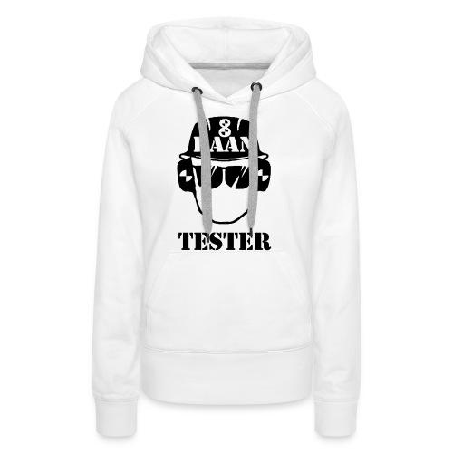 Achtbaan tester tshirt van Baas Bots - Vrouwen Premium hoodie