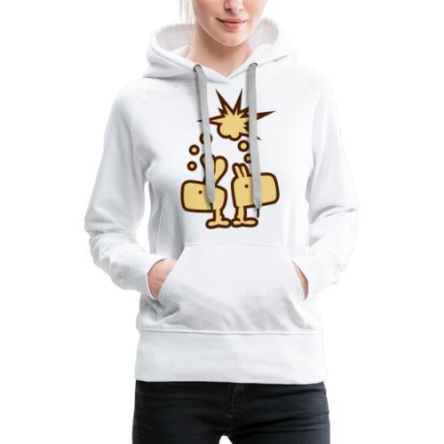 Brainstorm Brothers Hase Bunny Gedankenblitz - Frauen Premium Hoodie