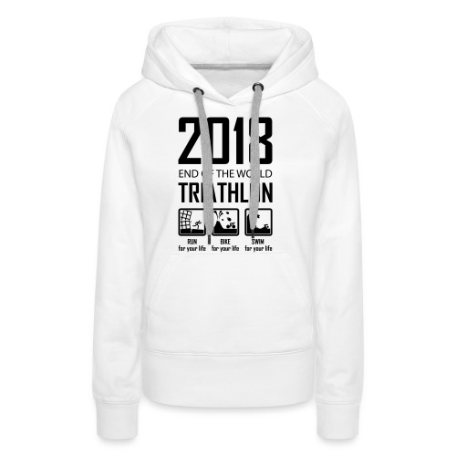 2018 End of the World Triathlon - Vrouwen Premium hoodie