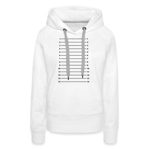 Length Check T-Shirt Plain - Women's Premium Hoodie