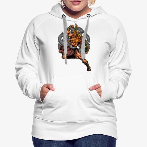 Guerrier viking - Sweat-shirt à capuche Premium pour femmes