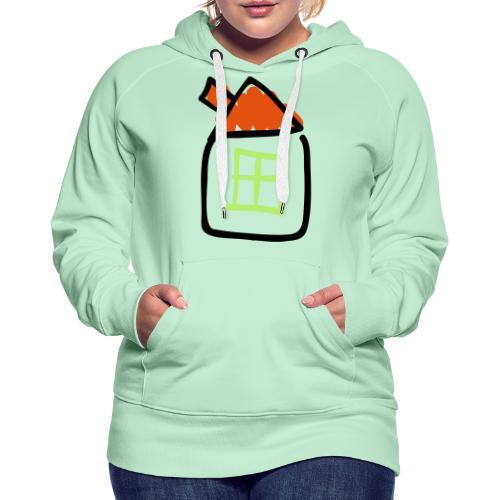 House Line Drawing Pixellamb - Frauen Premium Hoodie
