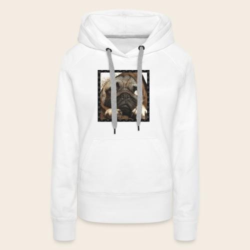 Mops Hund 1 - Frauen Premium Hoodie
