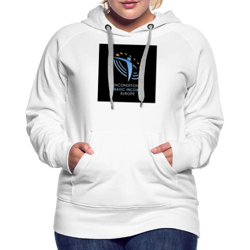 02 ubie on black centered square jpg - Vrouwen Premium hoodie