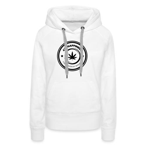 420_Happiness_logo - Dame Premium hættetrøje