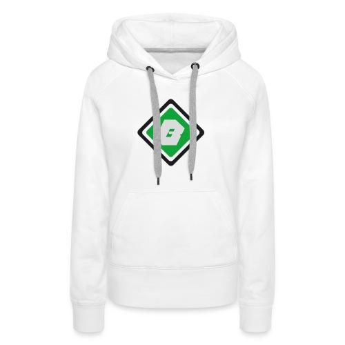 Bro'casters   Logo - Sweat-shirt à capuche Premium pour femmes