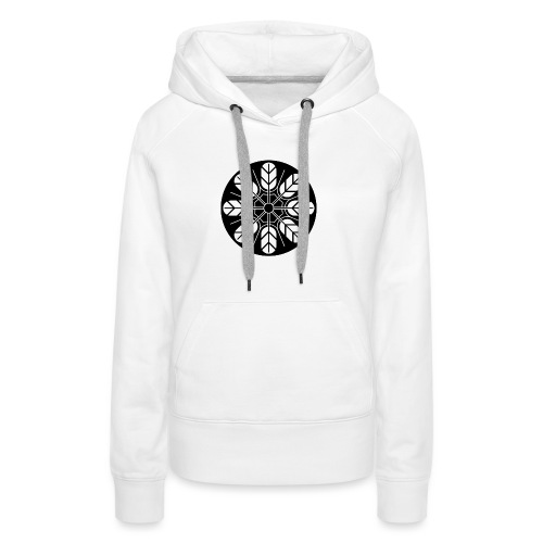Inoue clan kamon in black - Women's Premium Hoodie