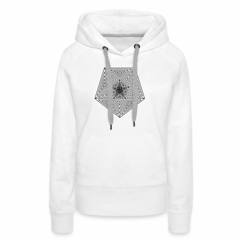 Pentagramm einfach - Frauen Premium Hoodie