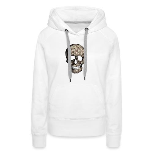 Skull Money Black - Sudadera con capucha premium para mujer