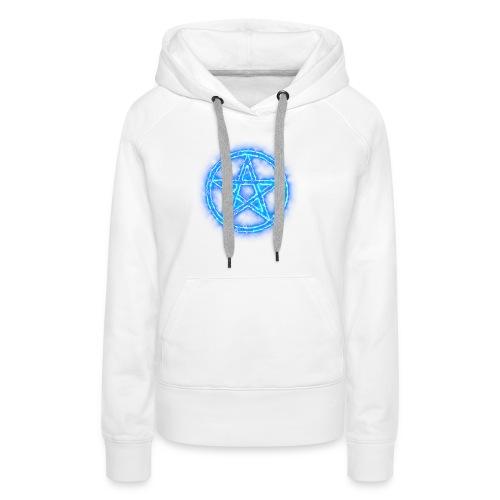 Pentagramm blau Energie - Frauen Premium Hoodie