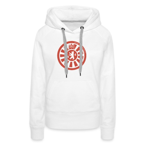 Logo RT44 Berlin 2016 pure red 4000px png - Frauen Premium Hoodie