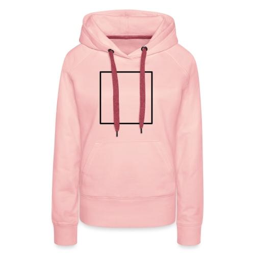 Square t shirt black - Vrouwen Premium hoodie