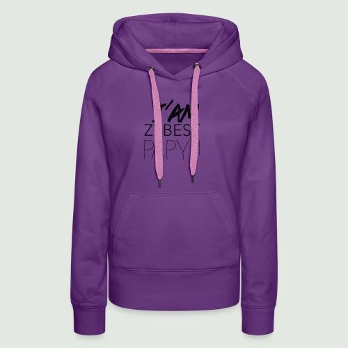iamezbestpapy - Sweat-shirt à capuche Premium pour femmes