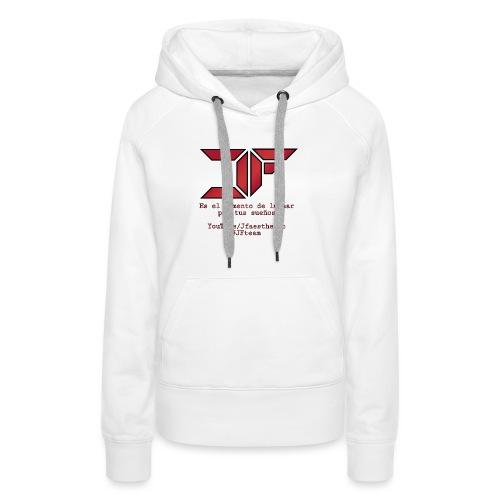 JF White Men - Sudadera con capucha premium para mujer