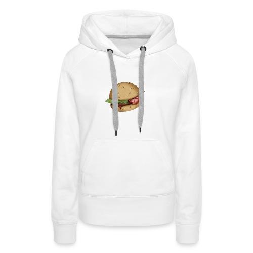 Burger - Sweat-shirt à capuche Premium pour femmes