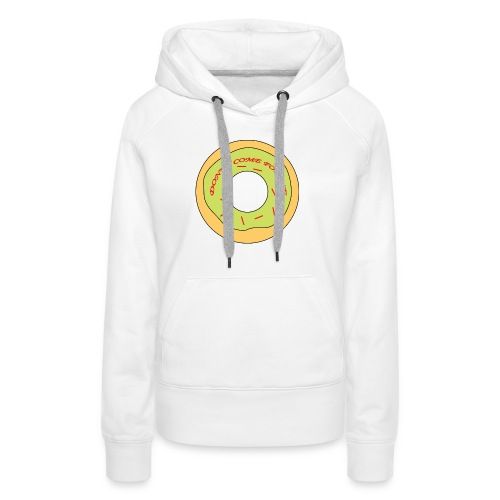 Donut Come For Me Red - Women's Premium Hoodie