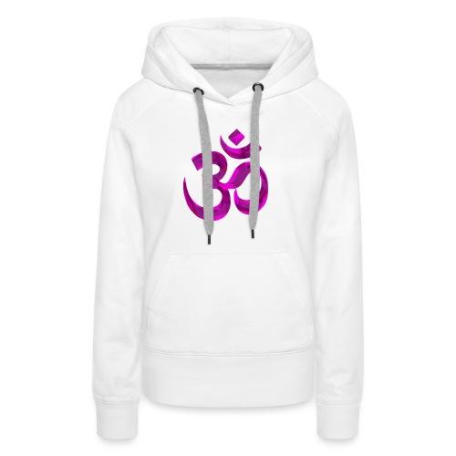 Symbole violet Chakra Om - Sweat-shirt à capuche Premium pour femmes