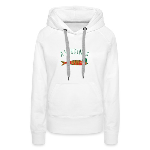 A Sardinha - Bandeira - Sweat-shirt à capuche Premium pour femmes
