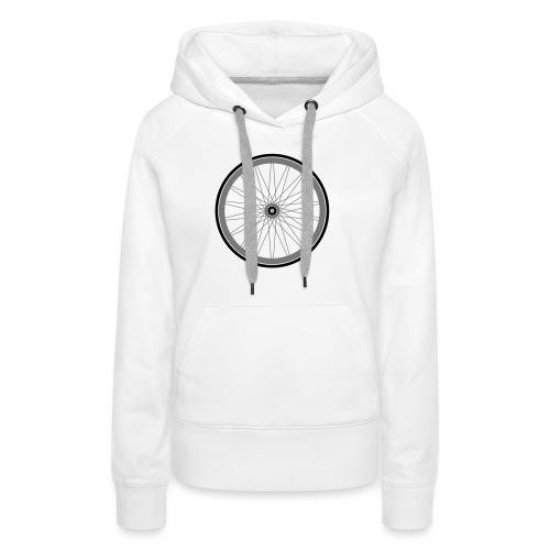roue de vélo - Sweat-shirt à capuche Premium pour femmes