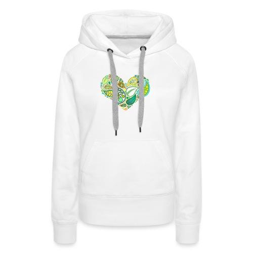 Green Leaf Heart Mandala - Women's Premium Hoodie