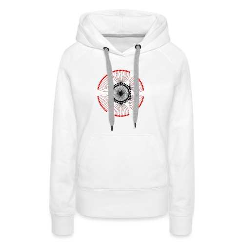 Red Poppy Seeds Mandala - Women's Premium Hoodie