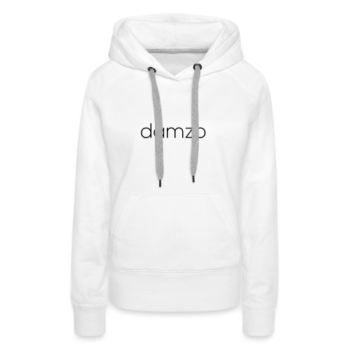 Damzo Simple 2 Sided Text Tee - Women's Premium Hoodie