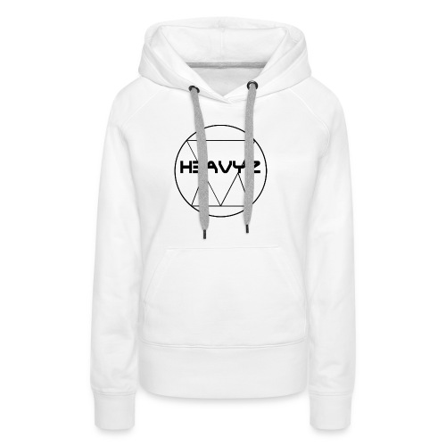 H3AVYZ- Pull gris chiné - Sweat-shirt à capuche Premium pour femmes