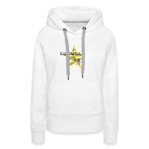 kizomba_is_my_art - Sweat-shirt à capuche Premium pour femmes