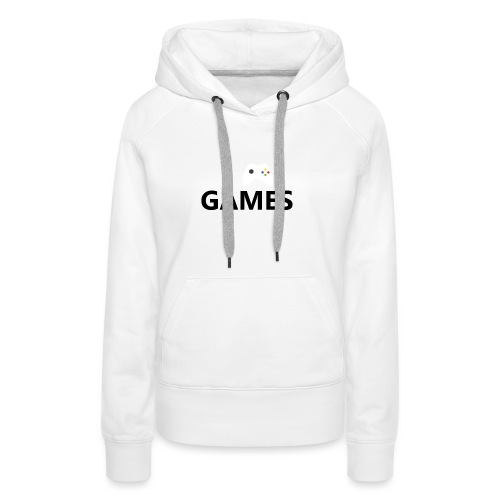 I Love Games - Sudadera con capucha premium para mujer
