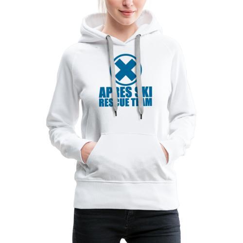 apres-ski rescue team - Vrouwen Premium hoodie