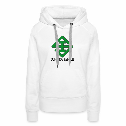 scheisse_einfach_logo_txt - Frauen Premium Hoodie