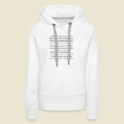 inspirations from great minds - Frauen Premium Hoodie