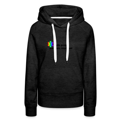 i help people - Vrouwen Premium hoodie