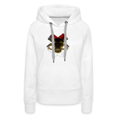 crane pistonné eclair - Sweat-shirt à capuche Premium pour femmes