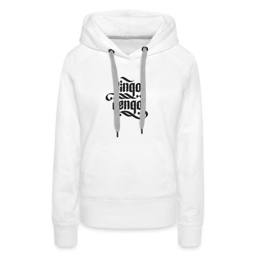 Logo CingoCengo BLACK - Frauen Premium Hoodie