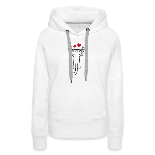 Kitty hanging love - Women's Premium Hoodie