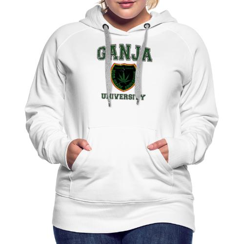 Ganja University black - Frauen Premium Hoodie