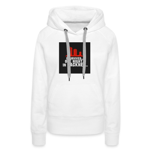 i survived one night in hackney badge - Women's Premium Hoodie