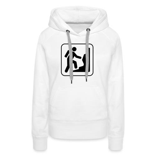 Bergwandern_logo - Frauen Premium Hoodie
