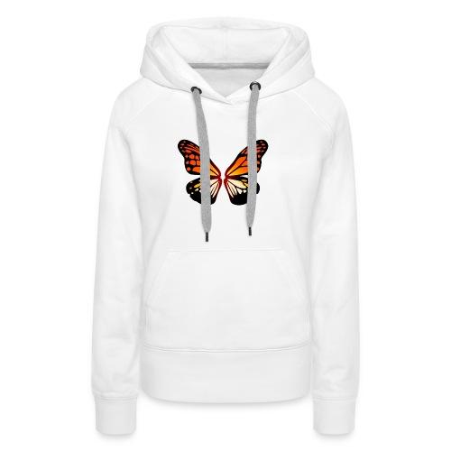 Butterfly wings On Fire - Premium hettegenser for kvinner
