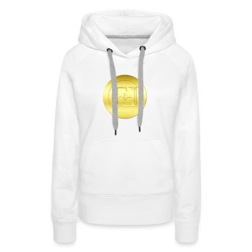 New Gold Freicoin Circle - Frauen Premium Hoodie