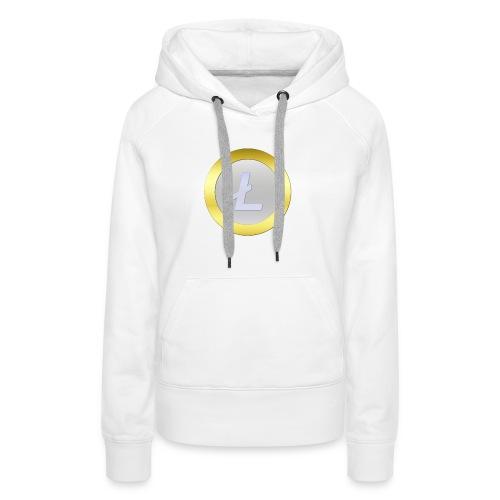 Litecoin Logo 3D Silver C - Frauen Premium Hoodie