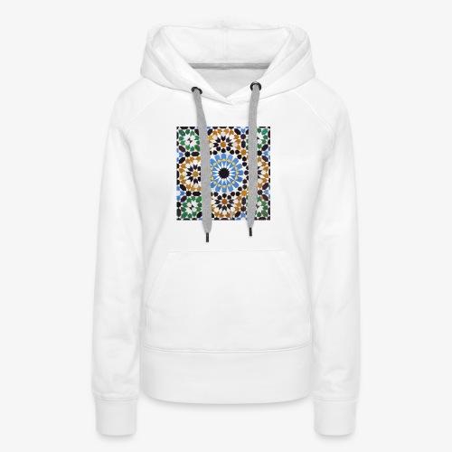 mosaique afrique du nord jpg - Sweat-shirt à capuche Premium pour femmes