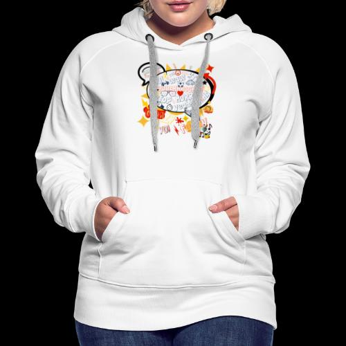 crazystreettalk - Sweat-shirt à capuche Premium pour femmes