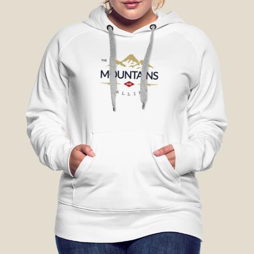 Outdoor mountain - Sweat-shirt à capuche Premium pour femmes