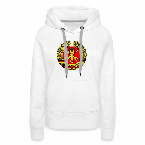 DDR Tuning Coat of Arms 3c (+ Your Text) - Women's Premium Hoodie