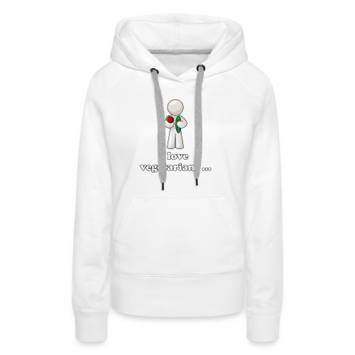 lovevegetariansfront - Vrouwen Premium hoodie