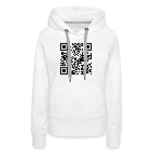 QR Code Geek - Sweat-shirt à capuche Premium pour femmes